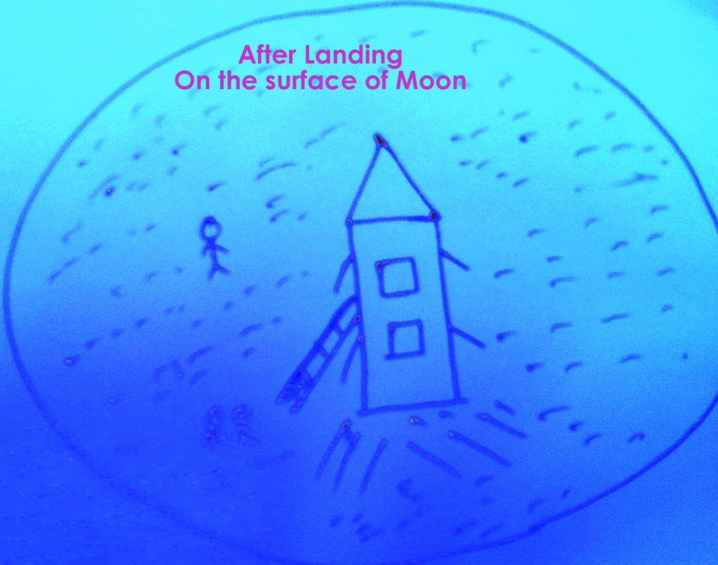 After our landing on the surface of moon!